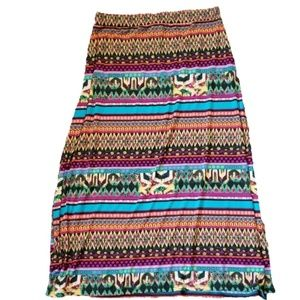 Jon & Anna maxi skirt tribal print